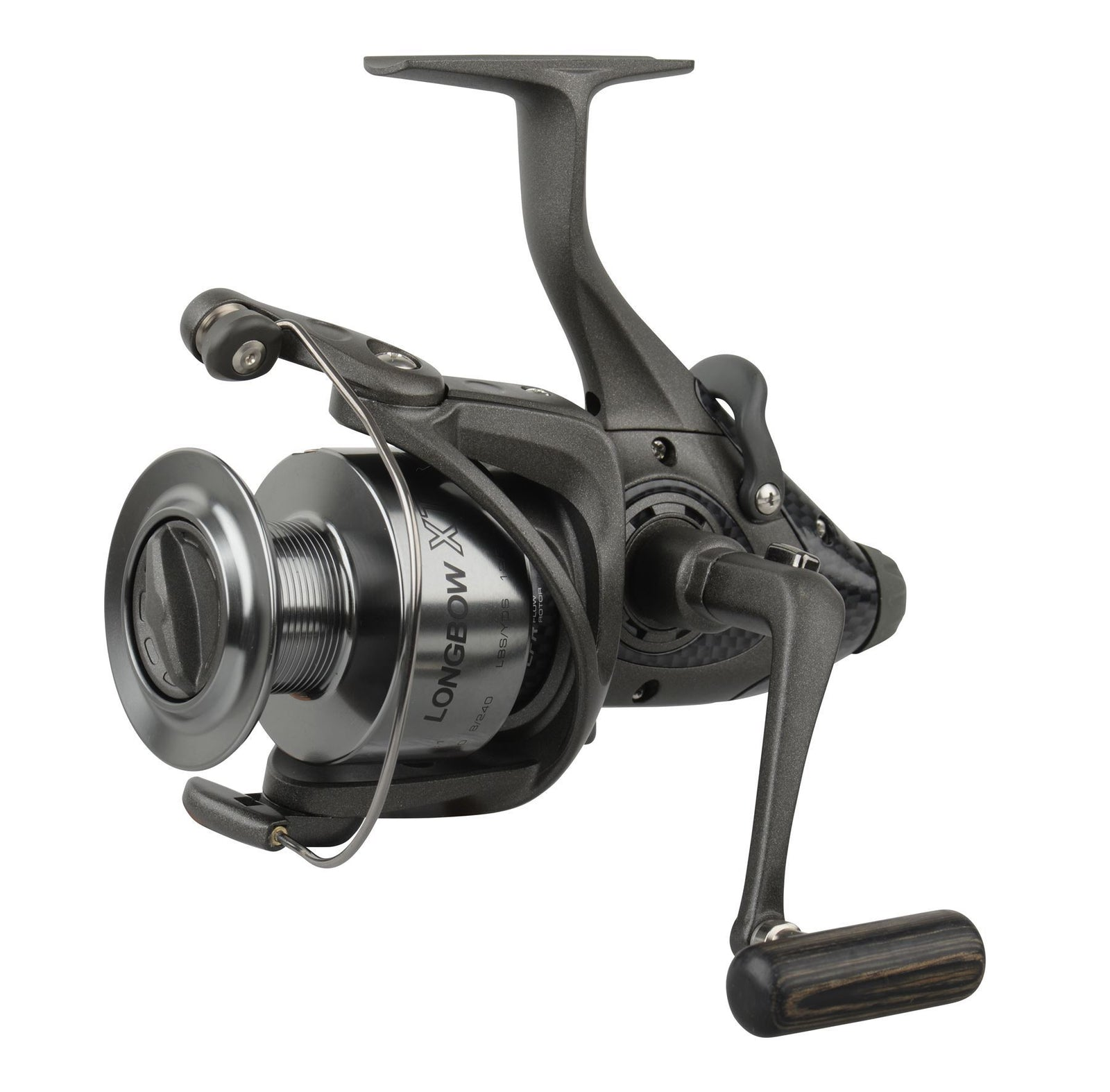 Okuma Longbow XT BF LBXT-640 5+1bb inc. Ex. Graphite spool Bait Feeder Reel - reid outdoors