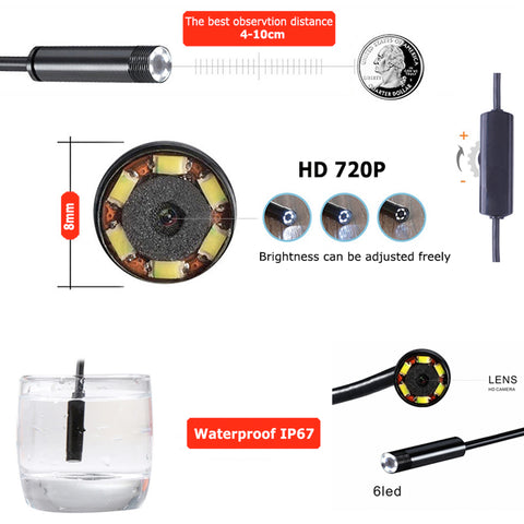 Image of HD Wifi Endoscope Waterproof Inspection Camera 1M 2M 3.5M 5M