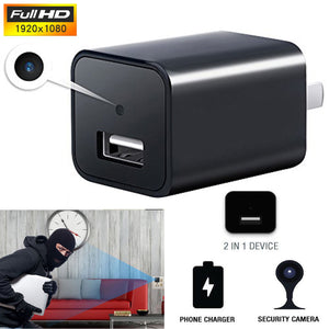 WiFi  HD 1080P Hidden Camera USB Wall Charger