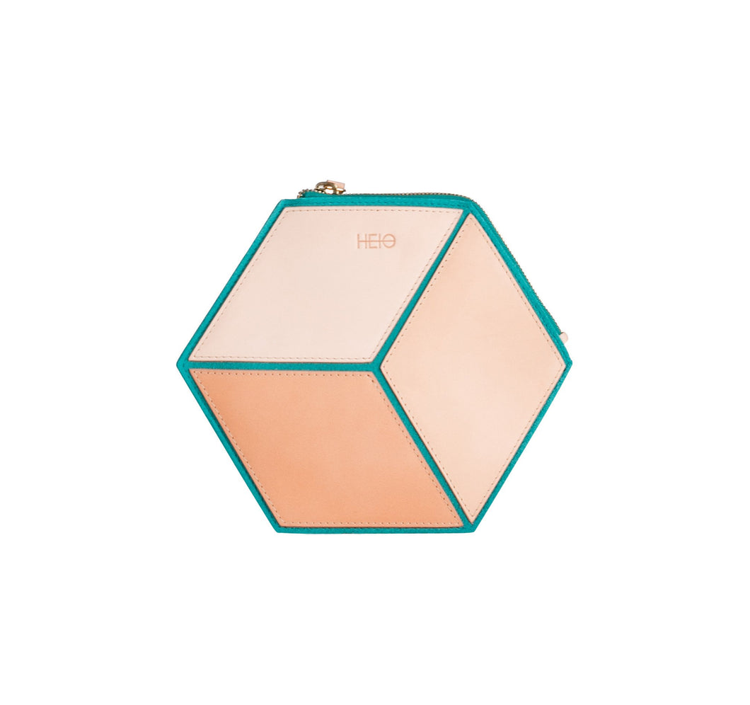 The Cube Turqueta Small Clutch