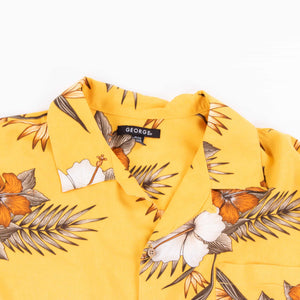 Vintage 'Yellow Flower' Hawaiian Shirt - American Madness