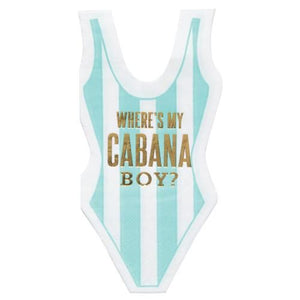Cabana Boy Swim Die Cut Napkins
