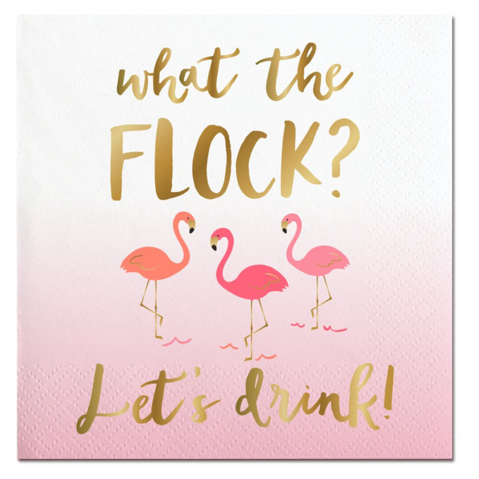What the Flock Beverage Napkins