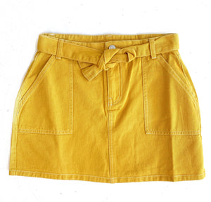 Yellow Front Tie Skirt