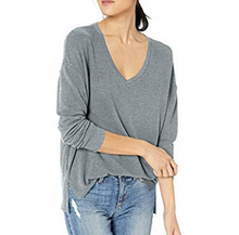 L/S Cozy Vneck Top