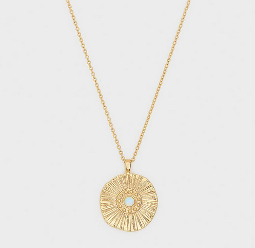 Sunburst Coin Necklace