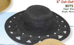 "Black 5"" Paper Circle Cutout Hat"