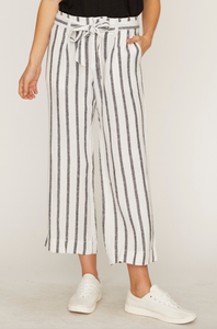 Stripe Inland Sashed Crop Pant
