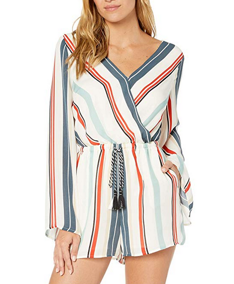 Caprice Striped Romper