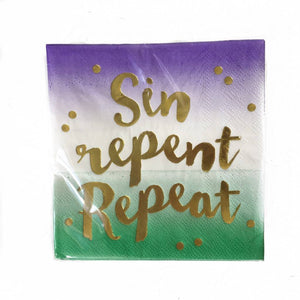 Beverage Napkins Sin Repent Repeat