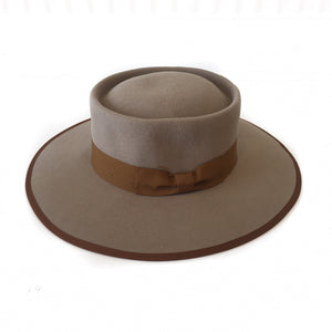 GD-Lt. Tan Wool Felt Bolero Crown Hat