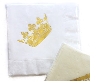 Crown Beverage Napkins