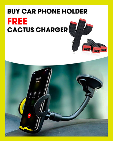 Buy Car Phone Holder Get Cactus Charges Free