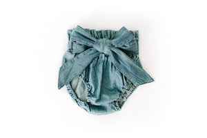 High Waisted Denim Bloomers