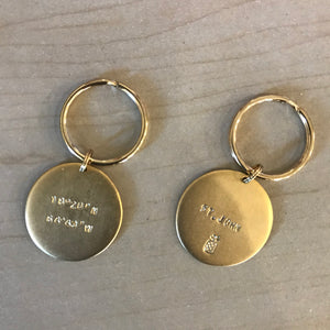Mimi & Lu | Gold Key Ring