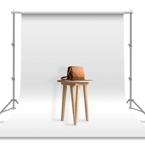 Julius Studio 6 x 9 ft. / 1.8 x 2.8 M/White Photo Video Photography Studio Fabric 100% Pure Muslin Backdrop Background Screen (Backdrop ONLY), JSAG103