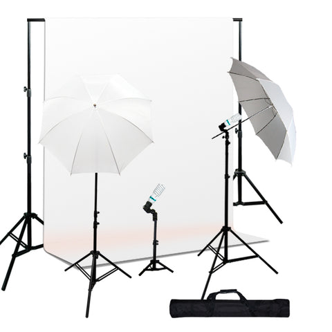 Photo Studio 1000W Continuous Lighting kit, Background Support, Muslin Background