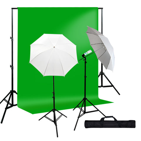 800W Photo Studio Continuous Lighting kit, Background Support, Muslin Background