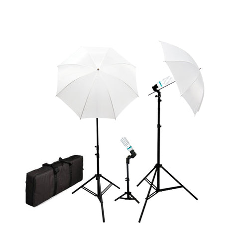 Photography Video Umbrella Continuous Triple Lighting Kit w/ Carrying Case