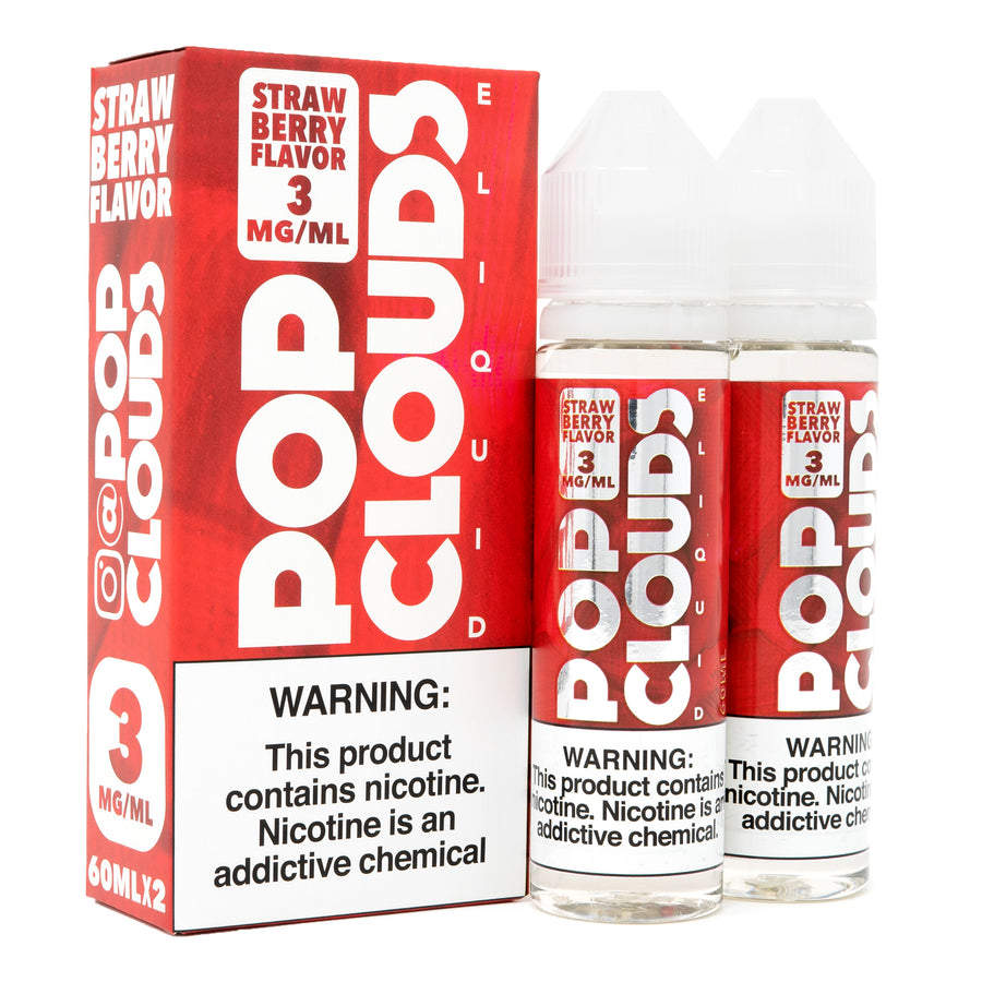 Strawberry 120ML By Pop Clouds E-Liquid