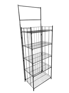 Collapsible Black Wire Display Rack - 5 Shelves UNIT #29877