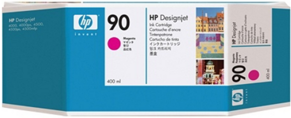 HP 90 Genuine OEM Original Yellow ink cartridge for HP DesignJet 4000,4000ps (C5064A)