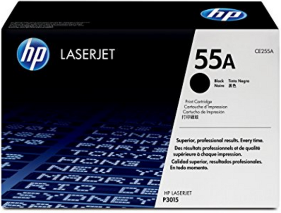 Genuine OEM HP Laserjet 55A (CE255A) Black Toner / Genuine OEM LaserJet M521 Toner Cartridge