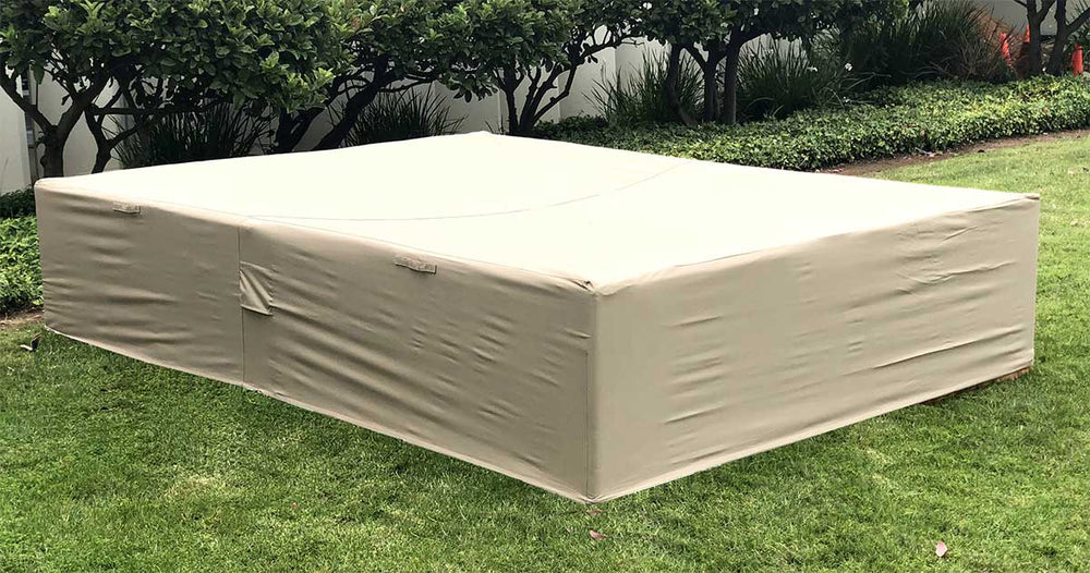 Patio Sectional Covers Waterproof Rectangle