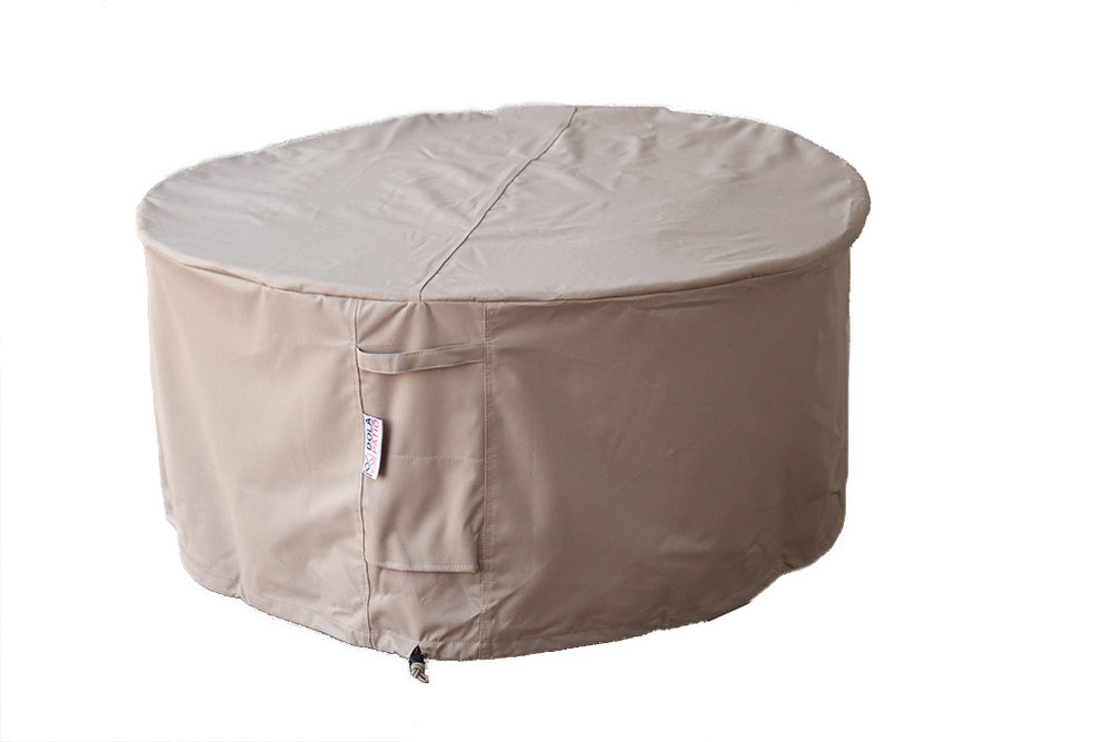 Outdoor Round Cover Fire Table Waterproof 48 Inches