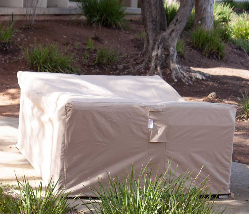 Outdoor Sofa Cover 85-67-35-Inches Beige Rainproof