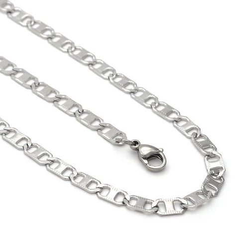 Stainless Steel 04.113.0052.24 Necklace and Bracelet, Mariner Design, Steel Tone