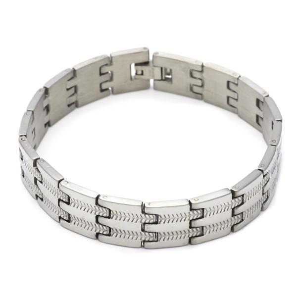 Stainless Steel 03.63.1556.08 Solid Bracelet, Polished Finish, Steel Tone