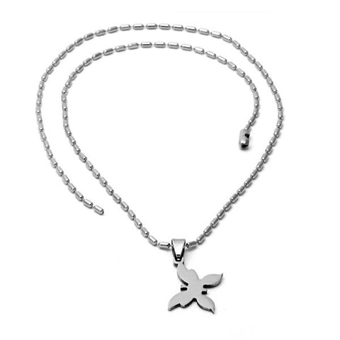 Stainless Steel 5.256.009 Fancy Necklace, Butterfly Design, Steel Tone