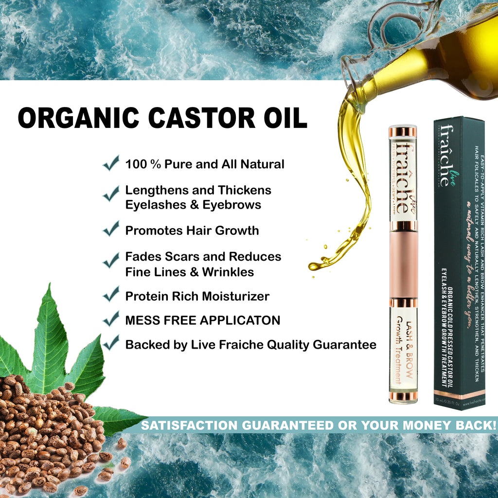 Organic Eyelash and Eyebrow Growth Serum