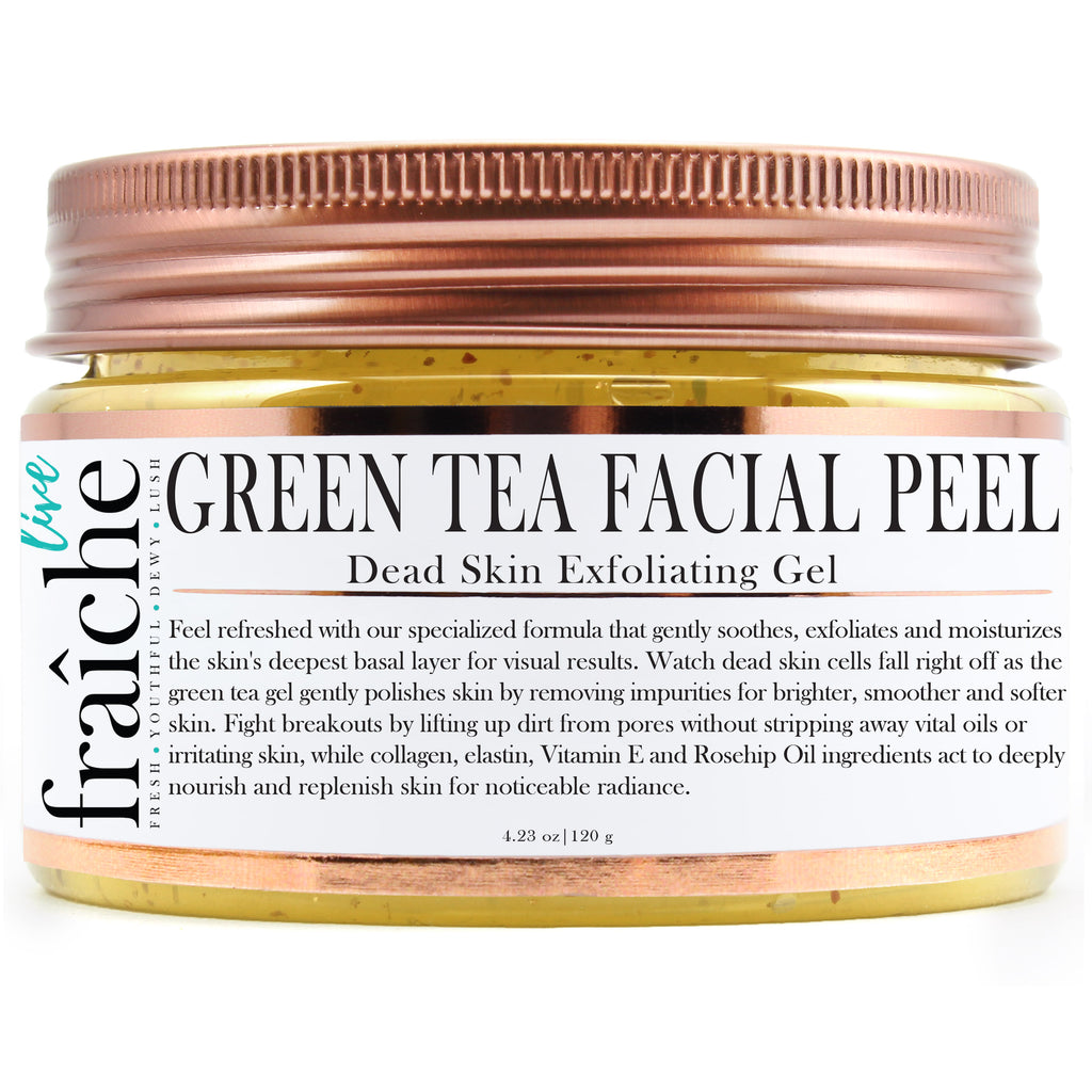 24k Gold Green Tea Facial Peel (Dead Skin Exfoliator)