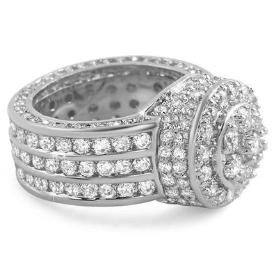 .925 Silver Custom Cluster CZ Bling Ring (7)