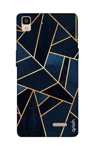 Abstract Navy Oppo R7 Cases & Covers Online