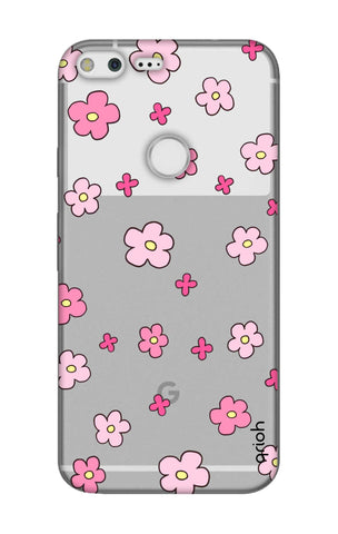 Pink Flowers All Over Google Pixel XL Cases & Covers Online