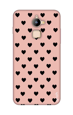 Black Hearts On Pink Coolpad Note 3 Lite Cases & Covers Online
