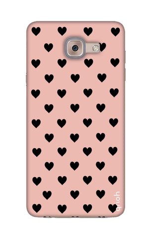 Black Hearts On Pink Samsung ON Max Cases & Covers Online