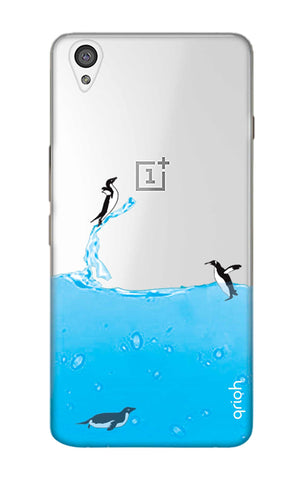 Penguins In Water OnePlus X Cases & Covers Online