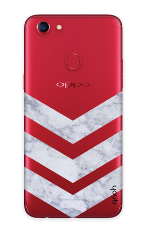 Marble Chevron Oppo F7  Cases & Covers Online