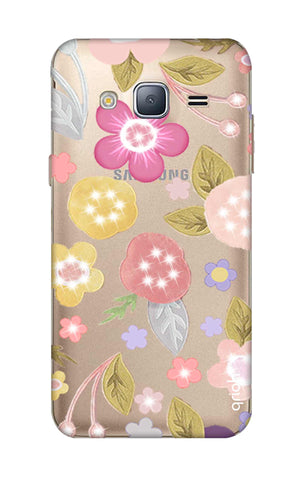 Multi Coloured Bling Floral Samsung J3 Cases & Covers Online