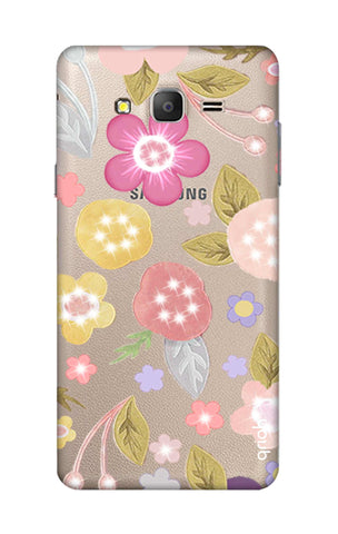 Multi Coloured Bling Floral Samsung ON5 Cases & Covers Online