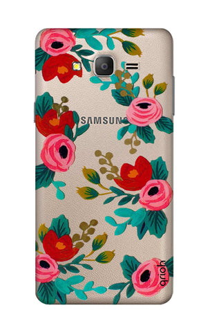 Red Floral Samsung ON5 Cases & Covers Online