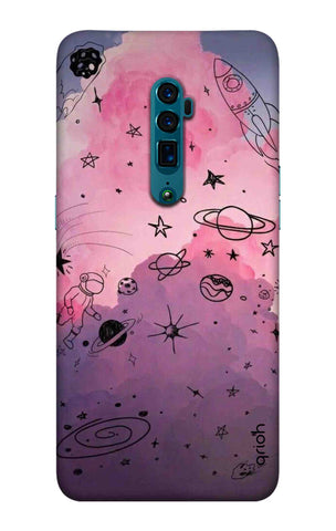 Space Doodles Art Oppo Reno 10X Zoom Cases & Covers Online