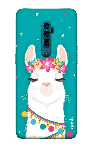 Cute Llama Oppo Reno 10X Zoom Cases & Covers Online