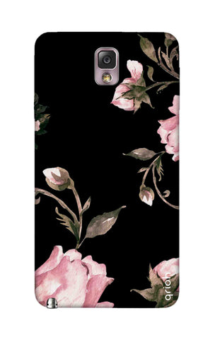 Pink Roses On Black Samsung Note 3 Cases & Covers Online