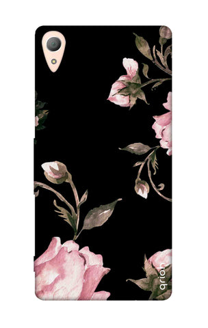 Pink Roses On Black Sony Z3 Cases & Covers Online