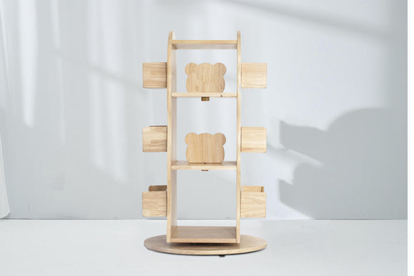 Revolving Solid Wood Bookcase Pre Order Only! - Bunnytickles